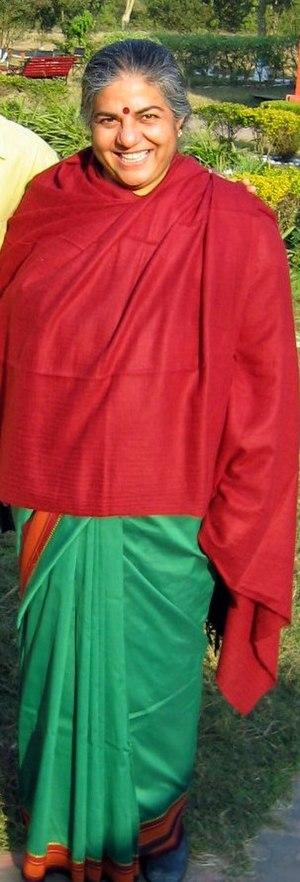 English: Vandana Shiva, noted environmentalist...
