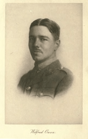 English: Portrait of Wilfred Owen, found in a ...