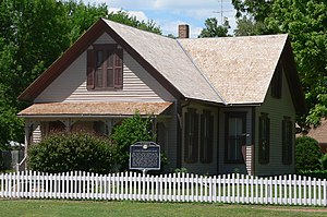 Willa Cather's childhood home in Red Cloud, Nebraska