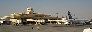 Aleppo International Airport.