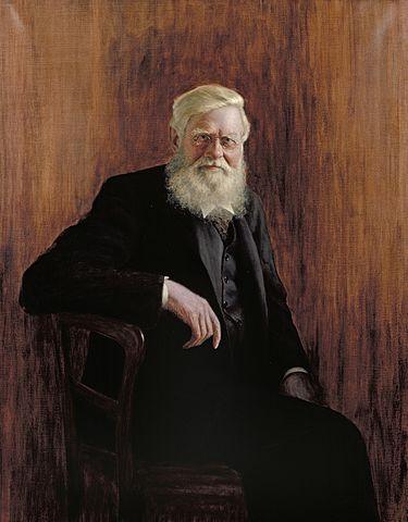 Retrato de Alfred Russel Wallace