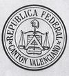 Escudo del Cantón federal de Valencia, 1873