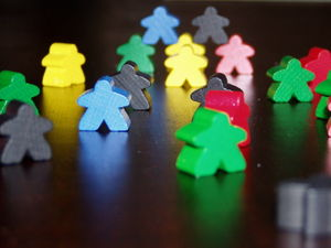 Carcassonne meeples, or followers Català: Els ...