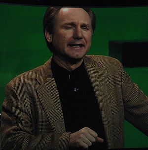 Dan Brown, American author of thriller fiction...