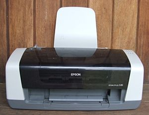 An Epson C45 Inkjet Printer.