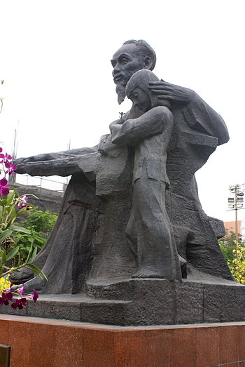 Ho Chi Minh statue in front of the City Hall o...