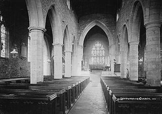 Image of the interior of Leintwardine church.