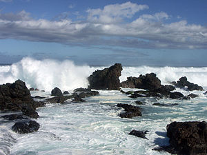 Ocean and rocks near Ho'okipa Beach - Northern...