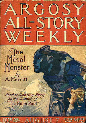 English: Argosy All-Story Weekly cover A. Merr...