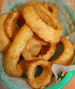 "Basket of onion rings from ""El Carambas&q..."