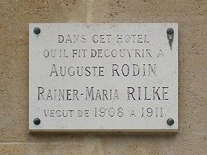 In memoriam Rainer Maria Rilke. Location : gar...