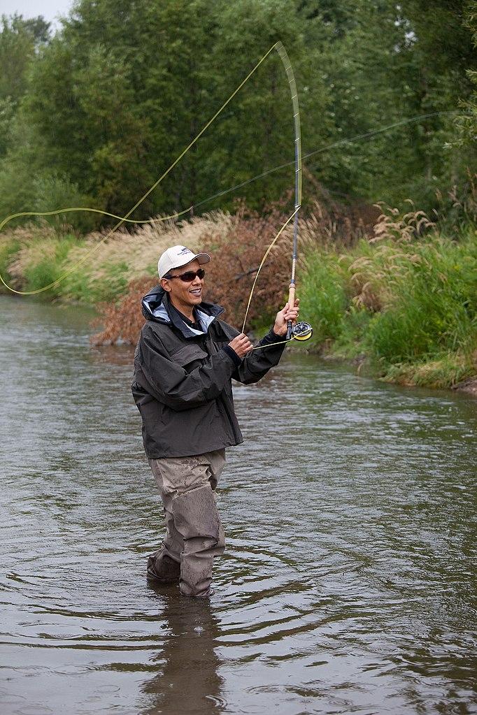 FilePresident Barack Obama Casts His Line While Fishing