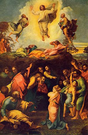 Painting by Raffaello Sanzio - Verklärung Chri...