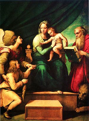 Madonna and the Fish, oil painting by Raphael