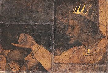 Rehoboam, a fragment of the Council Chamber murals