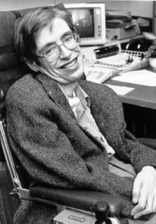 Black & White photo of Hawking at NASA