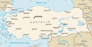 Location of Elazığ Province