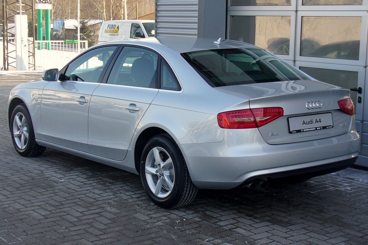 File Audi A4 B8 Facelift Limousine Ambiente 1 8 Tfsi Multitronic Eissilber Heck Jpg Wikimedia Commons