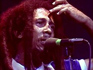 Marley filmed from left stage door during concert.