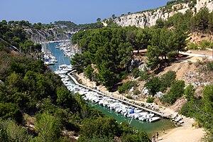 English: The Calanque de Port-Miou, Cassis, Fr...