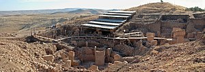 Göbekli Tepe (Turkey): a panoramic view of the...