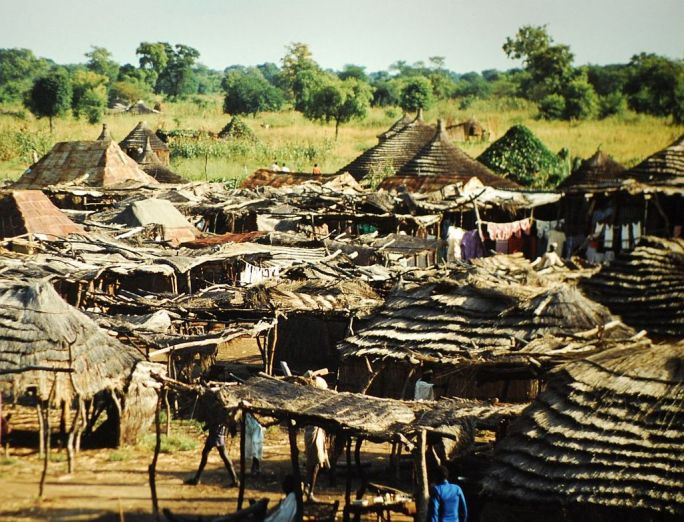 Huts outside Wau,Sudan