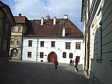 The house where Matthias Corvinus was born