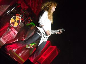 English: Dave Mustaine of Megadeth performing ...