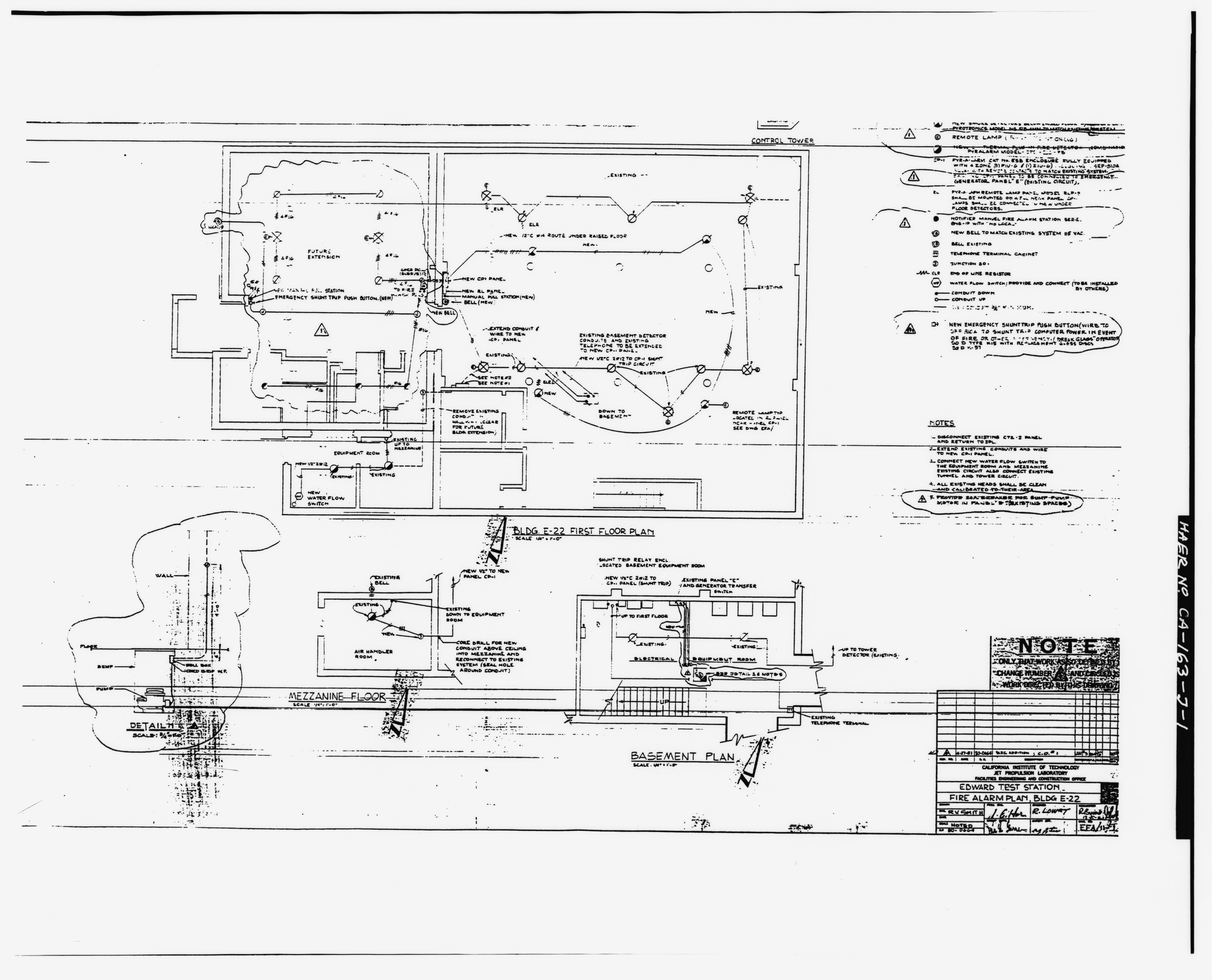 File Photographic Copy Of Fire Alarm Plan For Control And