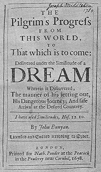File:Pilgrim's Progress first edition 1678.jpg