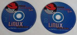 English: Red Hat 5.0 CDROM's Français : CDROM ...