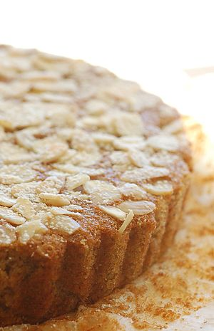 Supermoist banana and almond cake.