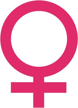 Venus symbol, symbol of feminity