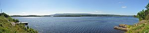 English: Panorama of upper lough erne