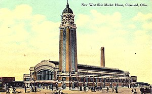 Postcard of the West Side Market in Cleveland,...