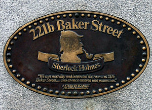 English: This marks 221b Baker St., the reside...