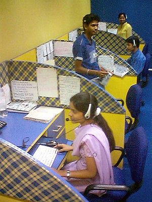 An Indian call center