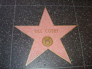 English: Bill Cosby's star on the Hollywood Wa...