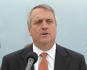 Colorado Governor Bill Ritter speaks to all th...