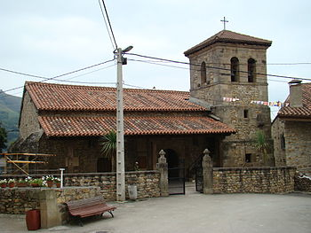 View of the parochial church in San Sebastián ...