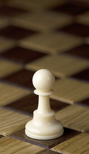 Chess piece - White pawn, Staunton design