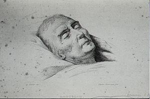 Portrait of French physician François Broussai...