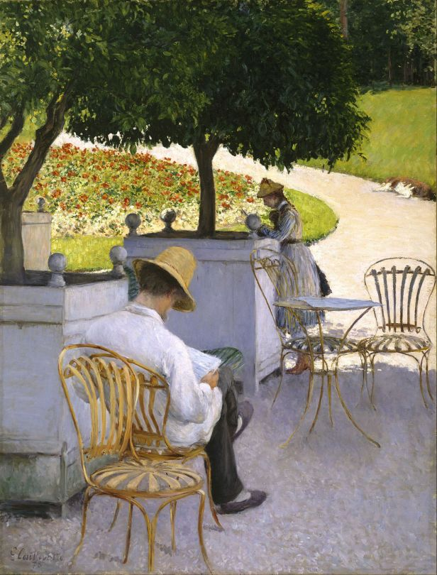 """""""The Orange Trees"""" by Gustave Caillebotte"""