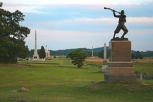 The 72nd Pennsylvania Infantry Monument on Cem...