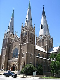 Holy Family Cathedral in Tulsa, Oklahoma. Phot...