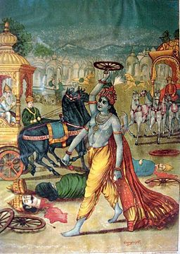 KRISHNA BREAKS HIS VOW