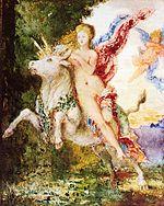 Europa y el toro de Gustave Moreau (c. 1869)