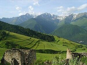 English: Mountain of Ingushetia. Русский: Горн...
