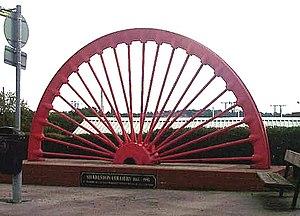 English: Sharlston Colliery Wheel. This wheel ...