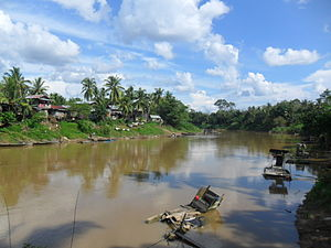 English: Tabalong River. Bahasa Indonesia: Sun...